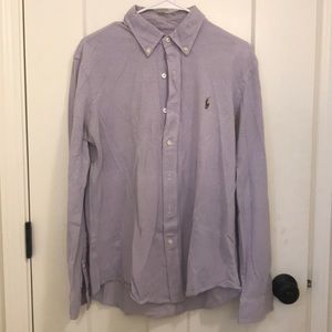 Polo long sleeve knit Oxford button up